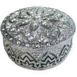 Porta joias de prata com cristal - 7x7 cm - Btc decor