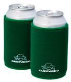 Porta latas neopreme com base antiderrapante cor verde guepardo
