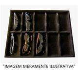 Porta óculos aveludado com caixa 420 X 320 X 35MM - Preto - Cód. 9510 - Ideal pack comercio de plasticos ltda