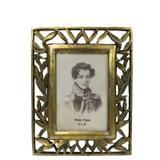 Porta retrato folhas douradas Studio Collection XPR5180 - Porta retratos