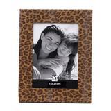 Porta Retrato Leather Onça 15X21 cm Caramelo Art Image
