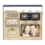 Porta Retrato Mini Rádio Cinza Oldway 20x24x3,5