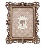 Porta Retrato Retangular Flores Realeza Mart Collection 13x18cm Cobre