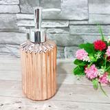 Porta sabonete liquido ceramica rose gold 360 ml - wincy