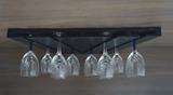Porta Taças 30 Suporte Decorativo para Adegas Bar - Preto Laca - Formalivre
