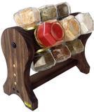 Porta Temperos / Condimentos de madeira giratório - Bella art in madeira