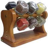 Porta Temperos / Condimentos giratório de madeira - Bella art in madeira