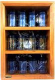Porta temperos e condimentos em madeira maciça com 12 potes de vidro - Container decoração