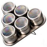 Porta Temperos e Condimentos Magnético em Inox 6pçs Pt-06 - House4