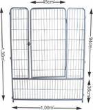 Portão do cercado para cães e diversos animais - Grande - Chocmaster