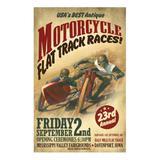 Poster Adesivo Corrida de moto antigas 70x50 cm - Sunset adesivos