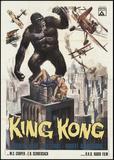 Poster Adesivo King Kong em cima do prédio 70x50 cm - Sunset adesivos