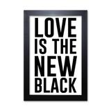 Pôster Decorativo Prolab Gift New Black Moldura Preta