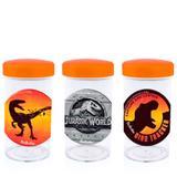 Pote de Acrílico com Tampa Festa Infantil Jurassic Park World 70ml 10 unidades - Festabox