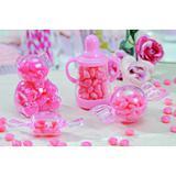 Pote Mamadeira com Mini Mamadeirinhas Rosa Decoração Festas - Cromus