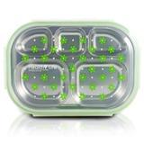 Pote Marmita c/ 5 Compartimentos 1100 ml Verde Jacki Design