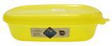 Pote Plástico Retangular Grande Hermético Color Plastutti - Amarelo / 03 Lt
