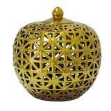 Potiche de Cerâmica Dourado - Vya store