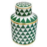Potiche de Cerâmica Xangai Verde I - Vya store