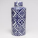 Potiche Ornamental Blue and White - Prestige