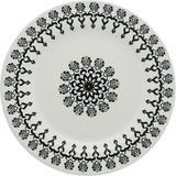 Prato de Cerâmica Raso 25cm Folk Oxford
