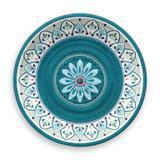 Prato De Jantar  Redondo em Melamina Marrocos 27 cm - Hudson