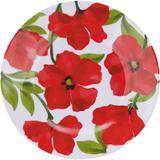 Prato de Melamina Raso 20cm Flores Vermelhas - Casa  video