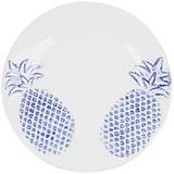 Prato de Sobremesa Abacaxi Provençal Azul - 6 unid - Soul home