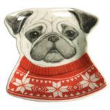 Prato Decorativo em Cerâmica Cachorro Vermelho - Urban