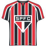 Prato Descartável Camisa São Paulo 08 unidades - Festabox