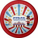 Prato Descartável Festa Circo 08 unidades Duster - Festabox