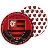 Prato Descartável Flamengo c/ 8 unid - Festcolor