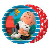 Prato Descartável Snoopy 08 unidades Festcolor