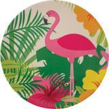 Prato Fibra de Bambu Sobremesa 20cm Anji Flamingo