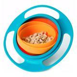 Prato Giratório Infantil Bebê Pratinho Mágico 360 Não Derrama A Comida Gyro Bowl - Thata esportes