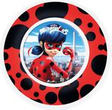 Prato Infantil Miraculous Ladybug 15 Cm Melamina - 126482 - Yangzi