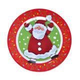 Prato Mesa Natal Melamina 25Cm Vermelha - Cromus