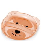 Prato Raso Com Divisórias Funny Meal Ursinho - Multikids
