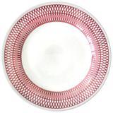 Prato Raso De Porcelana Louça Jantar Decoração Trico Violeta - Goldenhome