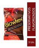 Preservativo Blowtex Morango e Chocolate c/ 3 Unidades