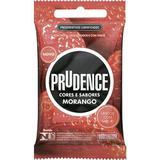 Preservativo prudence sabor morango com 3 unidades