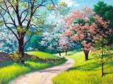 Primavera em Flor - Sarnoff  Tela Baby Para Quadro - Santhatela