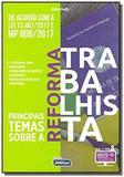 Principais temas sobre reforma trabalhista-01ed/18 - Alfacon concursos publicos