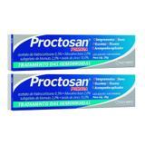 proctosan pomada tratamento das hemorroidas e varizes 2x 20g 1 aplicador - kley hertz