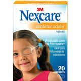 Protetor Ocular Nexcare Infantíl 20 unidades - 3m do brasil