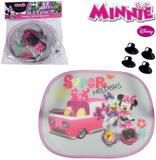 Protetor solar automotivo kit com 2 pecas minnie na solapa