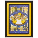 Quadro 3D Homer Simpson Have no Fear, Have a Beer 65x85cm - Decore pronto