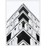 Quadro Arquitetura Fachada de Edifício em Preto e Branco 60x80cm - Decore pronto