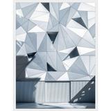 Quadro Arquitetura Fachada Geométrica de Prédio em Madri 60x80cm - Decore pronto