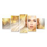 Quadro Beleza Estética Mulher Loura Mosaico Grande PEQ - Bimper